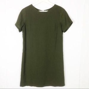 "Lulu's ""shift & shout""olive green mini shift dress"